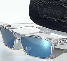 NEW* REVO CLEAR Square Classic w Blue POLARIZED Lens Sunglass RE 4061-09