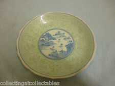 Beautiful Hand Painted  Blue And White Celadon Japanese pottery Plate