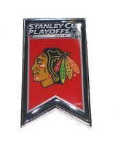 Chicago Blackhawks Hockey Lapel Pin Banner Design 2016 NHL Stanley Cup Playoffs