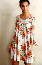 Anthropologie Paper Crown Fluttered Blooms Swing Trapeze Dress Sz XS NWOT