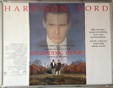 Cinema Poster: REGARDING HENRY 1991 (Main Quad) Harrison Ford Annette Bening