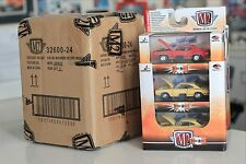 6 M2 Machines Detroit Muscle #24, two of each - GTO, Charger, & Super Bee -1/64