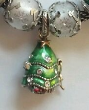 New Retired Brighton Christmas tree Opens Santa Claus inside Jewelry Charm Bead