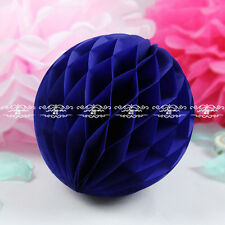 5Pcs 4 sizes 19 Color Handmade Paper Honeycomb Ball Wedding Party Decoration