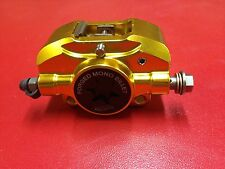 PM TUNING GOLD FORGED MONO BILLET BRAKE CALIPER VESPA PX 200 E DISC
