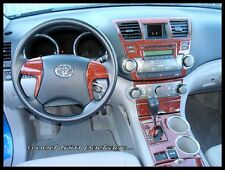 TOYOTA HIGHLANDER SE SPORT HYBRID INTERIOR WOOD DASH TRIM KIT SET 2011 2012 2013