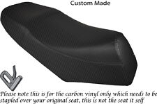 CARBON FIBRE VINYL CUSTOM FITS LEXMOTO GLADIATOR 125 DUAL SEAT COVER ONLY