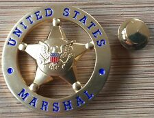 USMS - US Marshals Service oversize 1.25in GOLD badge Lapel Pin