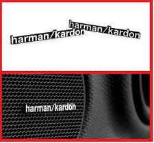 2 x ALUMINIUM HARMAN KARDON Speaker Logo Emblem Badge Sticker BMW MINI BENZ AUDI