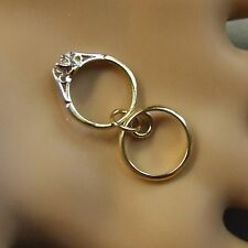 9 ct gold second hand two rings charm