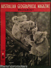 WALKABOUT MAGAZINE VOLUME 13 NUMBER 12 1947 Walk About Koalas Mining Cape York
