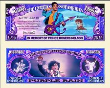 In Memory of Prince Rogers Nelson Million Dollar Bill Fun Money Novelty Note