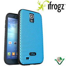 Custodia BREEZE iFrogz AZZURRO/NERO per Samsung Galaxy S4 i9505 cover traforata