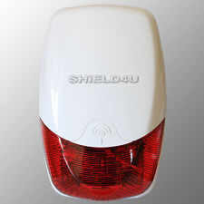WIRELESS WEATHERPROOF EXTERNAL FLASH LED STROBE BELL BOX FOR AUTODIAL GSM ALARM