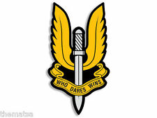 "BRITISH ARMY SPECIAL FORCES SAS WHO DARES WINS  5"" USA MADE STICKER DECAL"