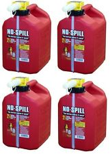 (4) No Spill 1405  2-1/2 GALLON CARB COMPLIANT GAS GASOLINE FUEL CANS
