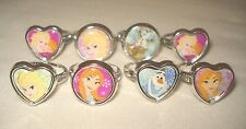 Lot of 8 Disney Frozen Rings Elsa Anna Olaf Party Favors Childrens Jewelry NEW