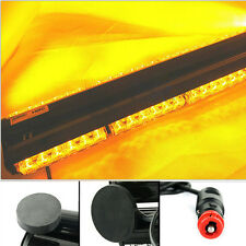 "18"" Double Side 108W LED Work Light Bar Beacon Light Warning Strobe Light  Amber"