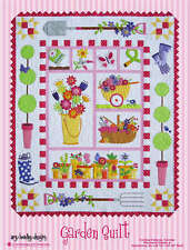 GARDEN QUILT QUILTING PATTERN, Fusible Applique From Amy Bradley Designs NEW