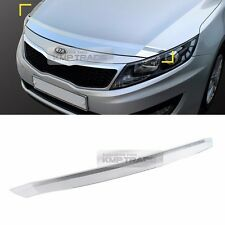 Chrome Front Bonnet Guard Bug Shield Molding Trim Cover for KIA 11-15 Optima K5