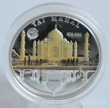 Mongolia 500 Togrog 2008 Wonders of the World Taj Mahal Silver
