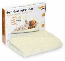 Self-Heating Washable Dog & Cat Pet Rug Bed Mat Faux Sheepskin Cover Cushion