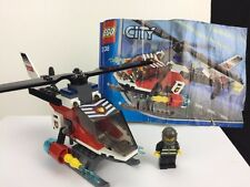 Lego City 7238 Fire Helicopter With Minifigure And Instructions