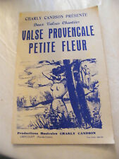 Partition Valse ProvençalePetite Fleur Charly Candson Music Sheet