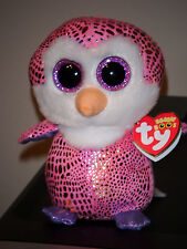 """Ty Beanie Boos ~ PATTY the 6"""" Penguin ~ Justice Exclusive ~ NEW with MINT TAGS"""