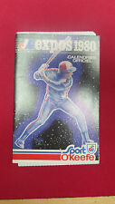 MONTREAL EXPOS 1980 OFFICIAL SCHEDULE BY OKEEFE W/ MAP OF OLYMPIQUE LE STADE