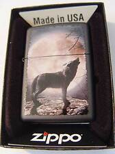 Zippo ® Howling Wolf to the moon Neu / New OVP