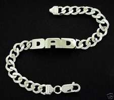 STERLING SILVER MENS DAD OR ANY NAME ID CURB BRACELET