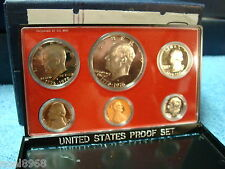 1976-S NEW PROOF SET FROM SEALED MINT SHIPPING BOX INCLUDES TYPE TWO IKE DOLLAR