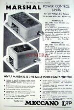 1960 Meccano Marshall '2 & 3' Low-Voltage D.C. Motors ADVERT - Original Print AD