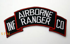 US ARMY RANGERS AIRBORNE INFANTRY COMPANY HAT PATCH USA PIN UP INF CO TAB VET