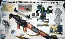 LQQK Amazing Original Soviet Russia USSR RPG-7 Rocket Launcher Color Poster BUY!