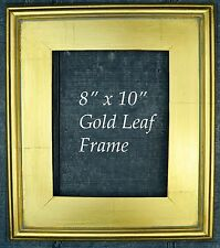 "GOLD METAL LEAF WOOD FRAME PLEIN AIR STYLE FOR 8"" x 10"" Painting"