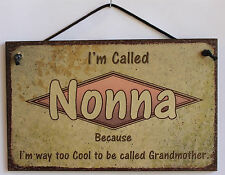Nonna s Sign Retro Grandma Vintage Best Mom Cool Mother Day Parent Gift Decor #1