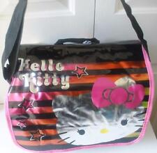 NWT Hello Kitty Girls Messenger Bag Black Pink White Bookbag School Supply