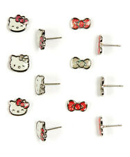 Loungefly Hello Kitty Glitter Bow Stud Earring 6pairs Set
