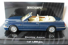 BENTLEY AZURE 1996 BLUE REMOVABLE SOFTTOP MINICHAMPS 436139931 1/43 BLAU BLEU