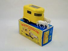 Matchbox Lesney # 43 Pony Trailer near mint/boîte (#MBB)