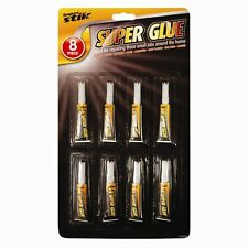 8 Pack Super Glue DIY Crafts wood Glass Superglue Strong Model Fast Fix Adhesive