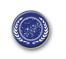 "STAR TREK FEDERATION OF PLANETS / 1"" / 25mm pin button / badge / Next Generation"