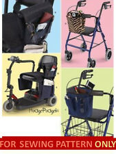 RETIRED SEWING PATTERN!  MAKE WHEELCHAIR~SCOOTER~WALKER BAG~CARRIER~ACCESSORIES!