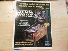 star wars trilogy   pinball    GAME  FLYER