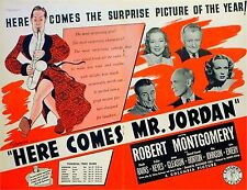 HERE COMES MR. JORDAN 1941 Robert Montgomery AL HIRSCHFELD Boxing TRADE ADVERT