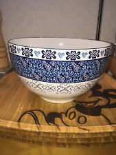disney parks mixing bowl mickey mouse icon indigo blues new