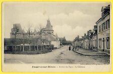 cpa FOUGÈRES sur BIÈVRE (Loir et Cher) Entrée du Pays Le CHÂTEAU Tabac et Régie