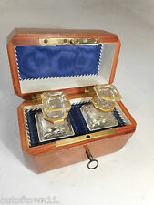 Antique French Scent Bottles in Kingswood Box   ,    ref 1462 29/3 KP34 msy